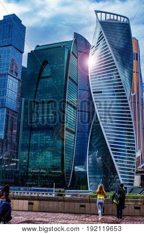 Moscow-city (Moscow international Business center), Russia, a complex of modern buildings