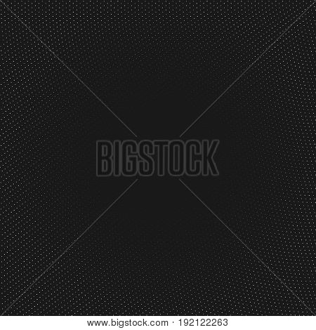 Vector abstract geometric background. Fading dots massif. Numerous little circles illustration isolated on backdrop