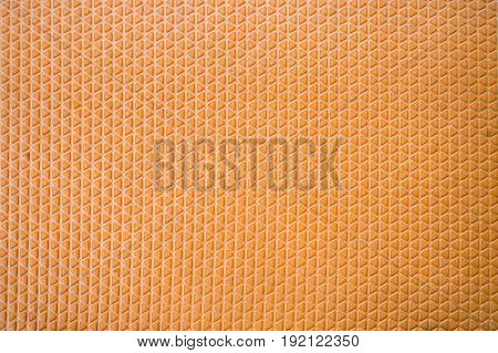 Orange rubber floor with beautiful patterns complex background.