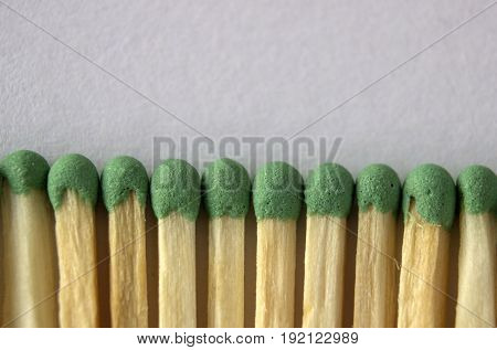 Matches are added to the line by touching each other, the macro