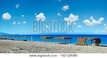 Summer Morning Pulebardha Beach (albania).