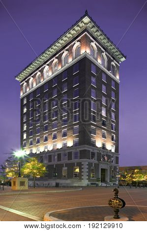 Beautiful Tall Historic Building in Downtown Greenville, SC