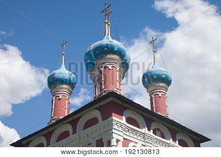 Uglich. The church of Dimitri on blood.