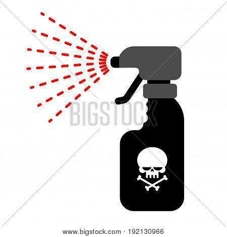 Sprayer with poison. Dangerous Poisonous liquid from insects.