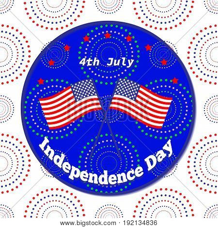 American Independence Day 4 Th July. Greeting Card Design. National Flag. Vector Illustration.patrio