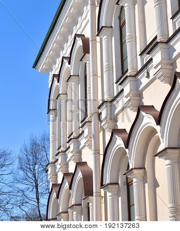 Building in Orthodox Voskresensky Novodevichy Convent in Saint Petersburg Russia.