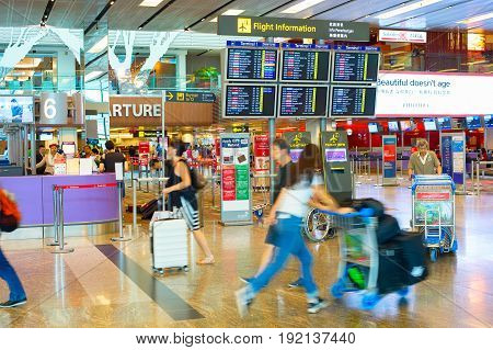 Passengers In Hurry At Airport