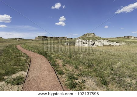 Agate Fossil Beds National Monument Daemonelix Trail in North Western Nebraska