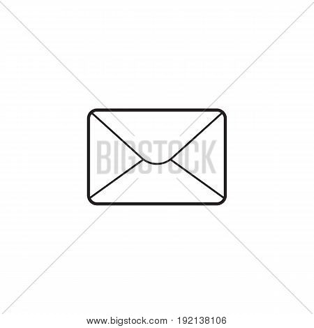 Email thin line icon, letter outline vector logo illustration, open envelope linear pictogram isolated on white