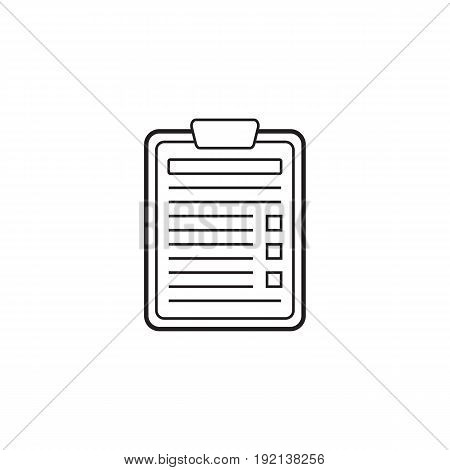 Application Form line icon, Edit outline vector logo illustration, linear pictogram isolated on white