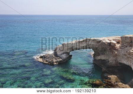 Monachus Monachus Arch. Cavo Greco Cape. Cyprus. Mediterranean Sea