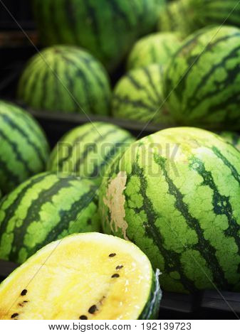 yellow water melon in market place
