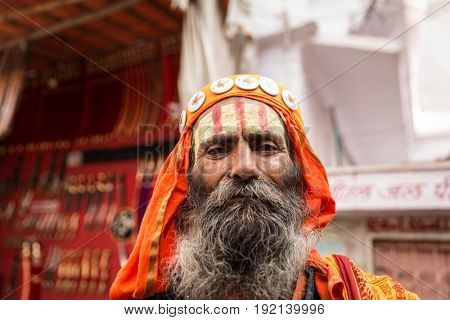Sadhu in Pushkar, India