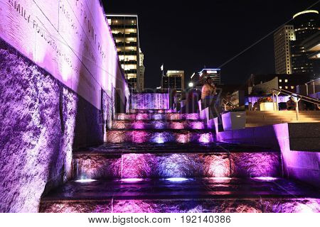 CINCINNATI, OHIO - JUNE 17, 2017:  Smale Riverfront Park is a premier attraction in Cincinnati, OH.