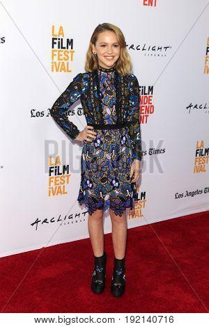 LOS ANGELES - JUN 19:  Talitha Bateman at the 2017 Los Angeles Film Festival -