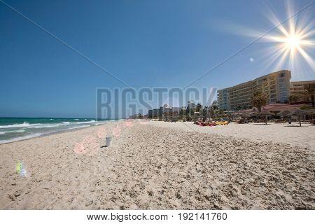 View of beach; Sousse; Tunisia