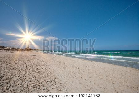 Tranquil view of beach; Sousse; Tunisia