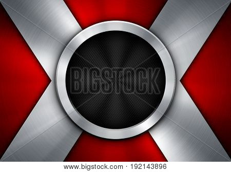 abstract 3d round metal background