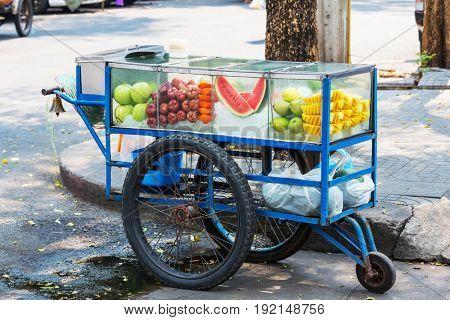 Thai fruit mobile cart