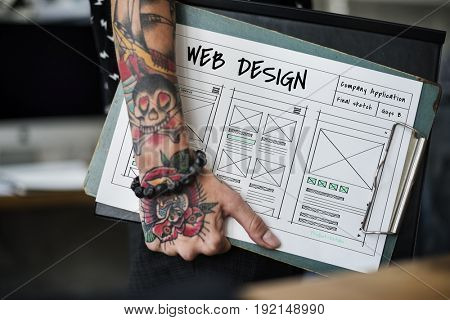 Website template sketch layout idea