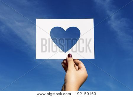 Love romance perforated paper heart
