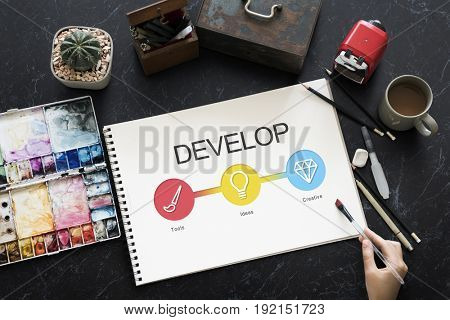 Website Template Content Develop Concept