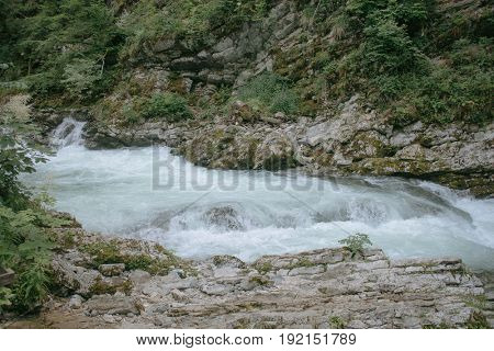 Beautiful nature. Magnificent view of Vintgar Gorge, Slovenia