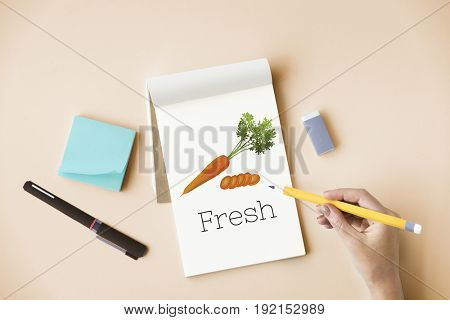 Fresh Carrot Healthy Eating Vegetable Food Graphic