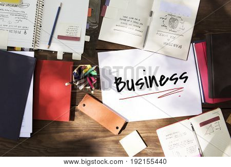 Work Plan Business Process Graphic Illustration