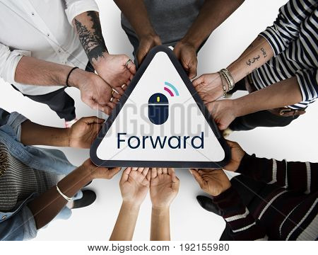 Next Forward Click Word Mouse Graphic