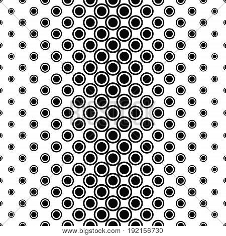 Abstract monochrome circle pattern background - vector illustration