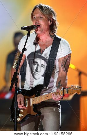 AUSTIN, TX - APRIL 30: Keith Urban performs during the 2016 iHeartCountry Festival at The Frank Erwin Center on April 30, 2016 in Austin, Texas.