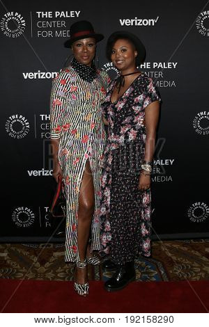 NEW YORK - MAY 17: Misha Green (L) and Aisha Hinds attend The Paley Honors: Celebrating Women in Television at Cipriani Wall Street on May 17, 2017 in New York City.