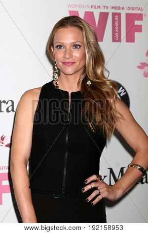 LOS ANGELES - JUN 13:  AJ Cook at the Women in Film Los Angeles Celebrates the 2017 Crystal and Lucy Awards at the Beverly Hilton Hotel on June 13, 2017 in Beverly Hills, CA