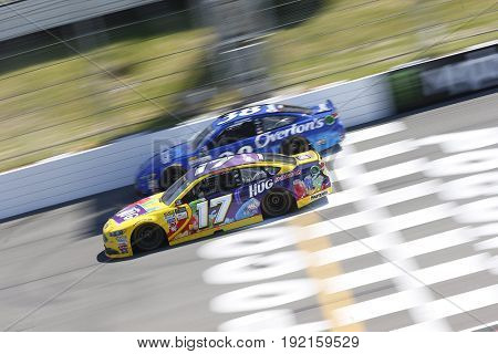 June 11, 2017 - Long Pond, PA, USA: Ricky Stenhouse Jr. (17) battles for position during the Pocono 400 at Pocono Raceway in Long Pond, PA.