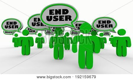 End User People Speech Bubbles Audience Customers 3d Illustration