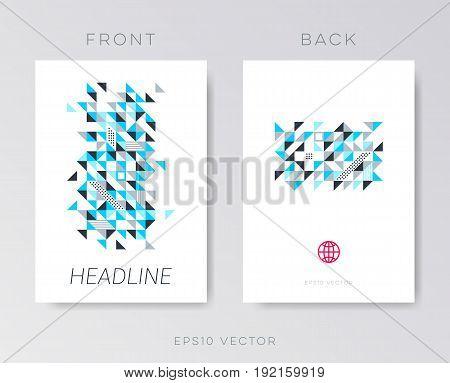 Modern vector brochure design template mosaic on white