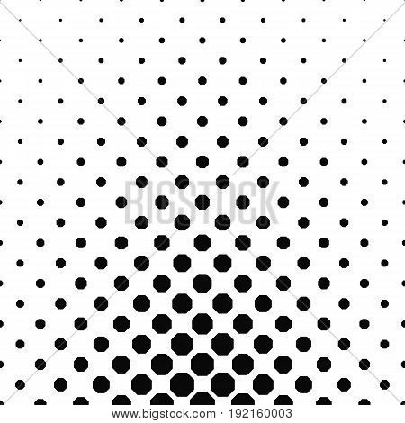 Abstract black and white octagon pattern background design