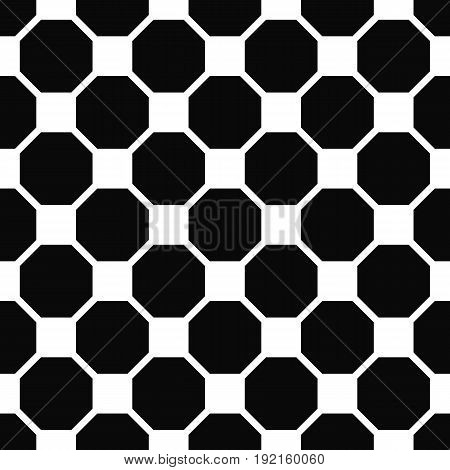Abstract seamless black and white octagon pattern background design