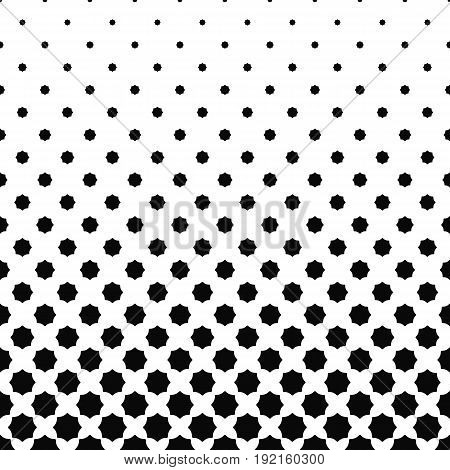 Abstract black and white curved octagon pattern design