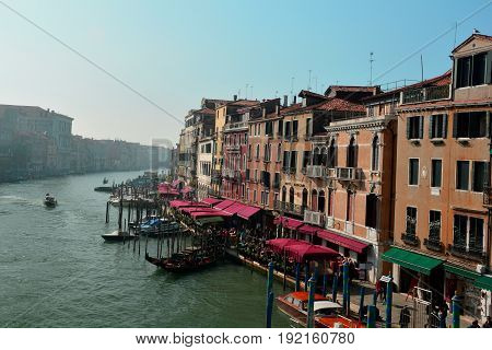 Venice Italy,October 16th 2013.The romantic city of Venice with its Grand Canal, gondolas and fine Italian architecture.Come and stay awhile.