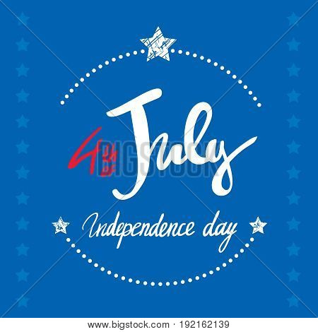 Happy th of july the trend calligraphy excellent gift card to the day of independence american