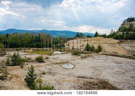 Overlooking the sandstone pit in thuringia saalfeld
