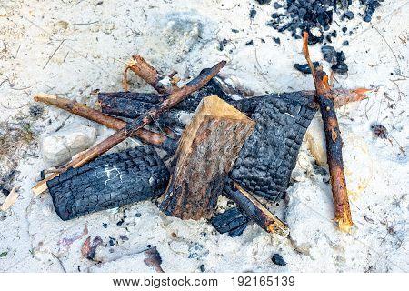 Fireplace in the sand in thuringia saalfeld