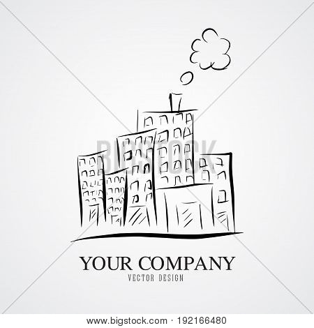 City vector illustration home outline business company