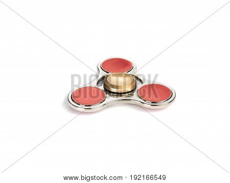 fidget spinner stress relieving toy isolated on white background