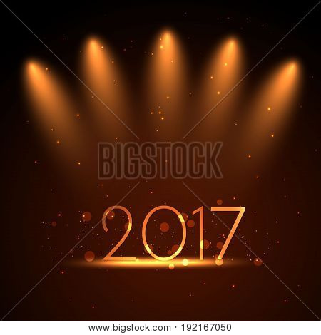 2017 written with Sparkle firework 2017 Happy New Year background concept
