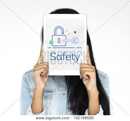 Lock Key Data Protection Security Graphic