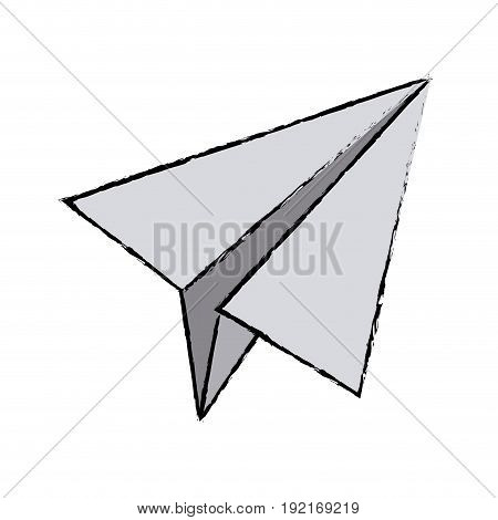 paper airplane business success motivation image vector illustration