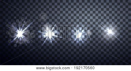 light effects, realistic lighting effect , light glow effect , vector glow luminescence for design,